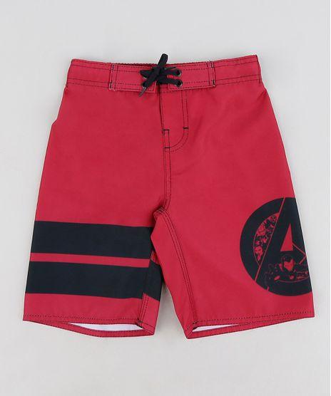 Bermuda-Surf-Infantil-Os-Vingadores-com-Velcro-e-Cordao-Vermelha-9281402-Vermelho_1