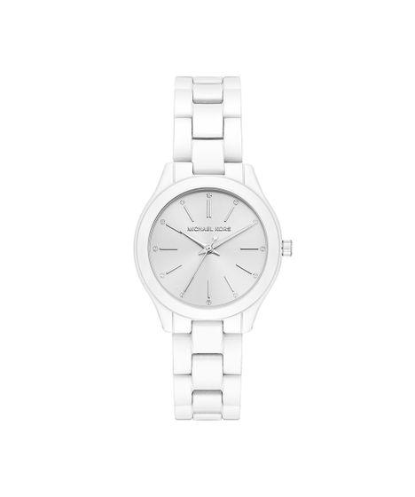 Relógio Michael Kors Feminino Slim Runway Branco - MK3908 1KN - cea 2ce68e0233