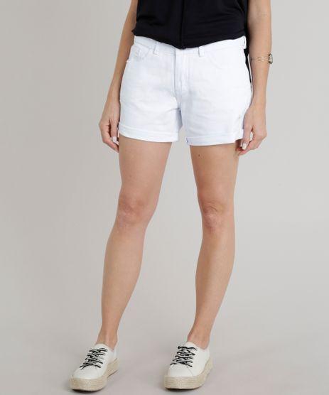 Short-de-Sarja-Feminino-Midi-com-Barra-Dobrada-Branco-9326561-Branco_1