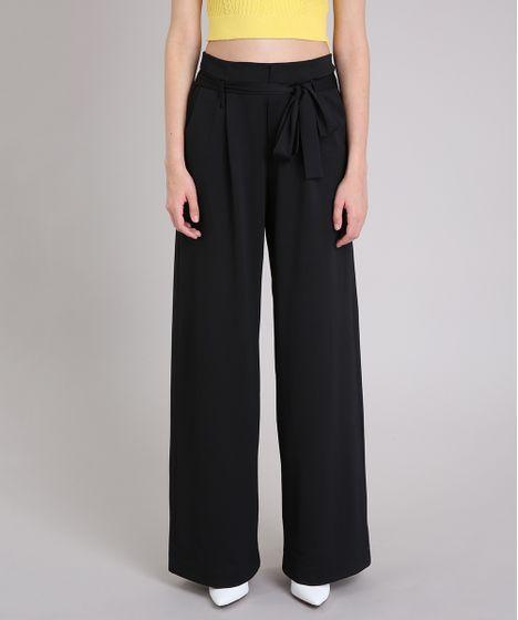 762bfb577 Calça Feminina Mindset Pantalona de Malha com Faixa para Amarrar ...