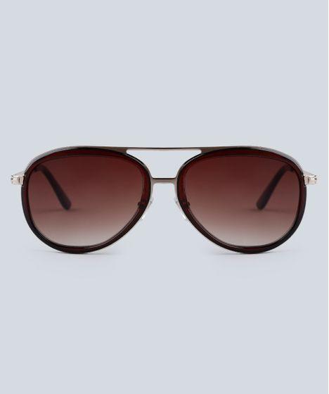 a1b2ce5e5c0ac Óculos de Sol Aviador Masculino Oneself Dourado - cea