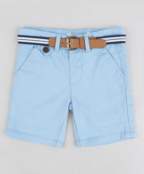 Bermuda-Color-Infantil-Slim-com-Cinto--Azul-Claro-8710132-Azul_Claro_1