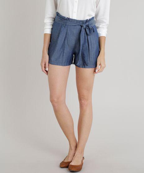 Short-Jeans-Feminino-Clochard-com-Faixa-de-Amarrar-Azul-Escuro-9308569-Azul_Escuro_1