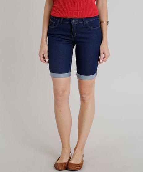 Bermuda-Jeans-Feminina-Ciclista-Barra-Dobrada-Azul-Escuro-9301758-Azul_Escuro_1