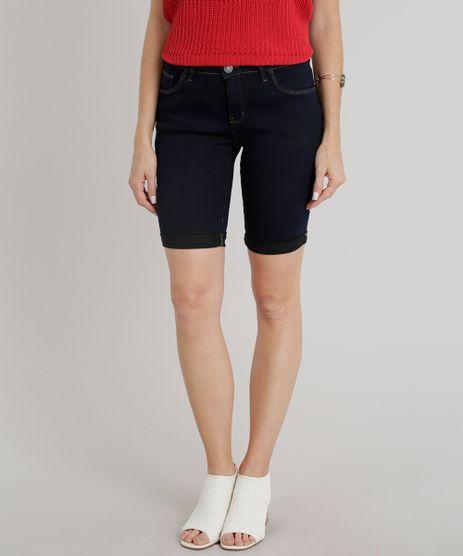 Bermuda-Jeans-Feminina-Ciclista-Barra-Dobrada-Azul-Escuro-9314126-Azul_Escuro_1