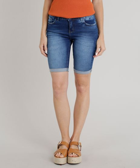 Bermuda-Jeans-Feminina-Ciclista-Barra-Dobrada-Azul-Escuro-9314125-Azul_Escuro_1