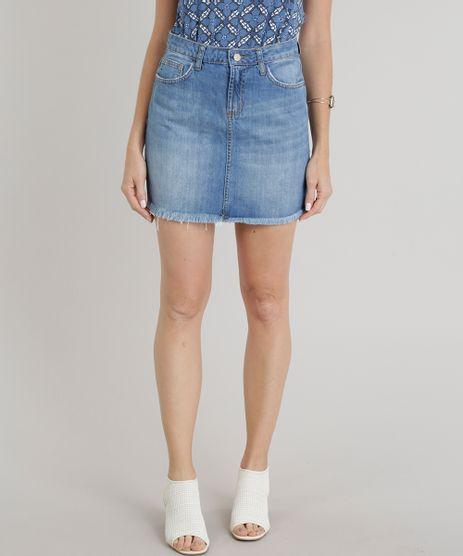 Saia-Jeans-Feminina-Evase-com-Barra-Desfiada-Azul-Claro-9269741-Azul_Claro_1