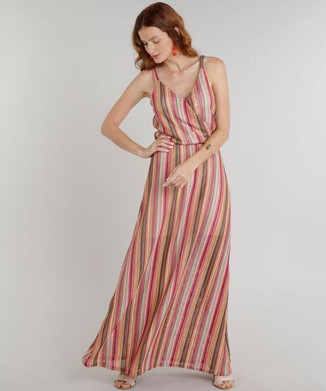 Vestido-Feminino-Longo-em-Renda-com-Transpasse-Alcas-Finas-Decote-V-Laranja-9305122-Laranja_1