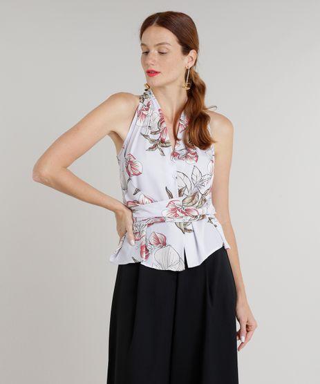 Regata-Feminina-Estampada-Floral-com-Amarracao-Decote-V-Lilas-9243722-Lilas_1