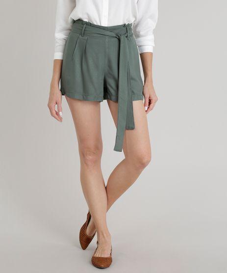 Short-Feminino-Clochard-com-Faixa-de-Amarrar-Verde-Militar-9271818-Verde_Militar_1
