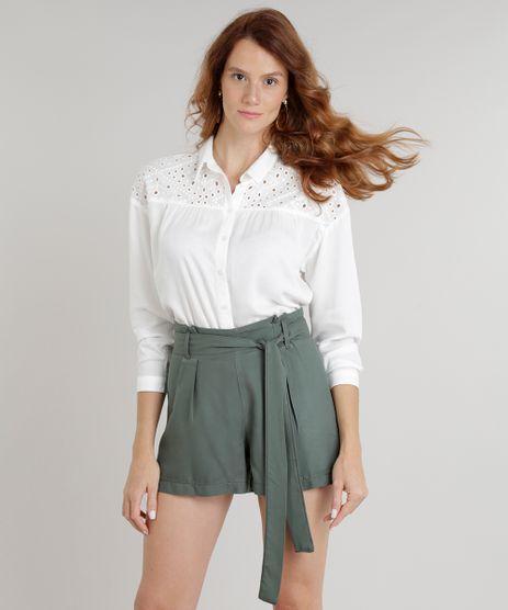 Camisa-Feminina-com-Recorte-em-Laise-Manga-Longa-Off-White-9243887-Off_White_1