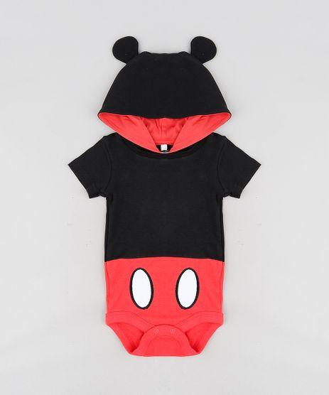 Body-Infantil-Mickey-com-Capuz-e-Orelhinhas-Manga-Curta-Preto-9120551-Preto_1