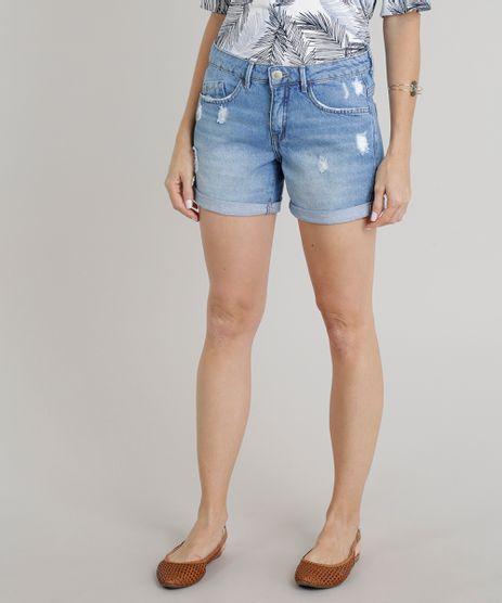 Short-Jeans-Feminino-Midi-com-Puidos-Barra-Dobrada-Azul-Claro-9271281-Azul_Claro_1