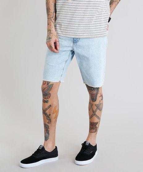 Bermuda-Jeans-Masculina-com-Bolsos-Barra-Desfiada-Azul-Claro-9225599-Azul_Claro_1