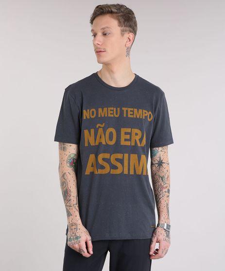 Camiseta-Masculina--No-Meu-Tempo-Nao-Era-Assim--Manga-Curta-Gola-Careca-Chumbo-9229114-Chumbo_1