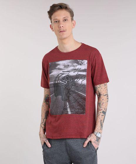 Camiseta-Masculina--Motorcycle--Manga-Curta-Gola-Careca-Vermelha-9223842-Vermelho_1
