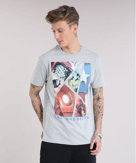 Camiseta-Masculina-Os-Vingadores-Manga-Curta-Gola-Careca-Cinza-Mescla-9254013-Cinza_Mescla_1