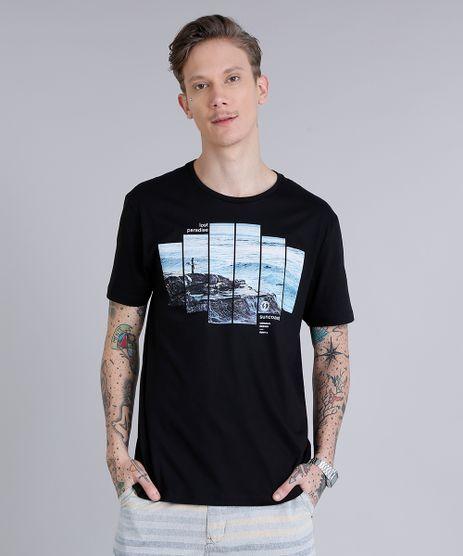 Camiseta-Masculina--Lost-Paradise--Manga-Curta-Gola-Careca--Preta-9190289-Preto_1