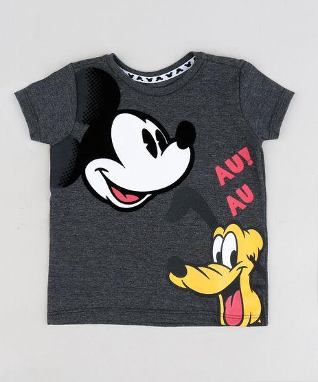 Camiseta-Infantil-Mickey-e-Pluto-Manga-Curta-Gola-Careca-Cinza-Mescla-Escuro-9297720-Cinza_Mescla_Escuro_1