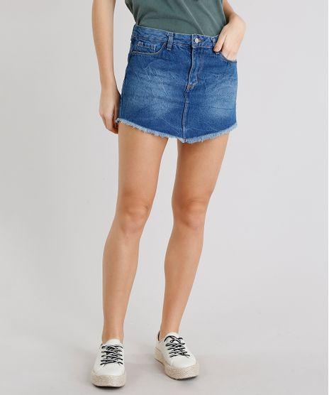 Saia-Jeans-Feminina-Diamond-Barra-Desfiada-Azul-Medio-9281299-Azul_Medio_1