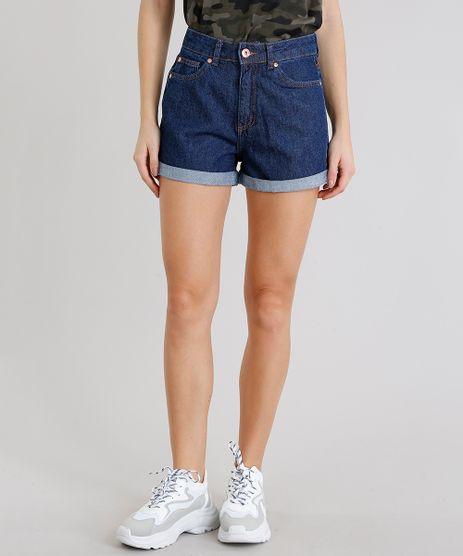Short-Jeans-Feminino-Mom-Barra-Dobrada-Azul-Escuro-9274696-Azul_Escuro_1