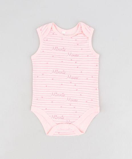 Body-Infantil-Minnie-Listrado-Sem-Manga-Decote-Redondo-Rosa-Claro-9124373-Rosa_Claro_1