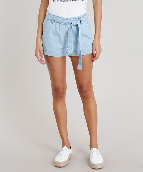 Short-Jeans-Feminino-Clochard-com-Faixa-de-Amarrar-Azul-Claro-8518793-Azul_Claro_1