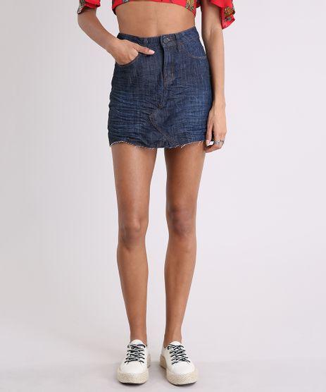 Saia-Jeans-Feminina-com-Barra-Desfiada-Azul-Escuro-9209347-Azul_Escuro_1