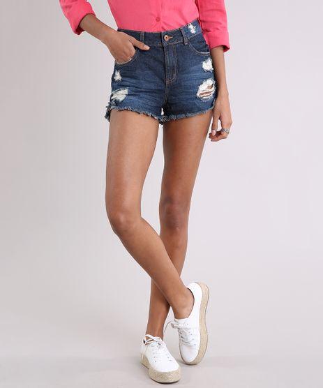 Short-Jeans-Feminino-Boy-Destroyed-com-Barra-Desfiada-Azul-Escuro-9260096-Azul_Escuro_1