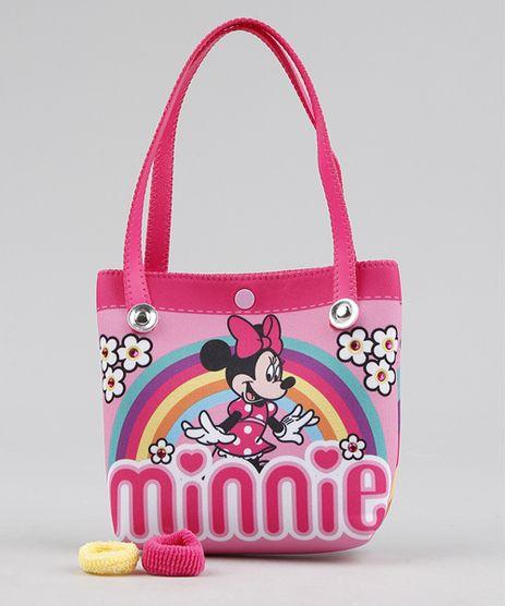 b90911e3a Bolsa-Infantil-Minnie---Elasticos-de-Cabelo-Rosa-