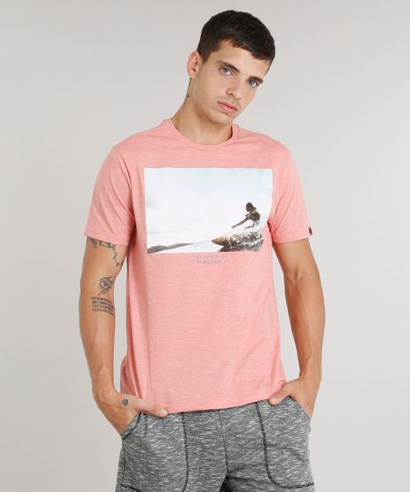 Camiseta-Masculina--Sea-Sun-Sand--Manga-Curta-Gola-Careca-Coral-9298446-Coral_1