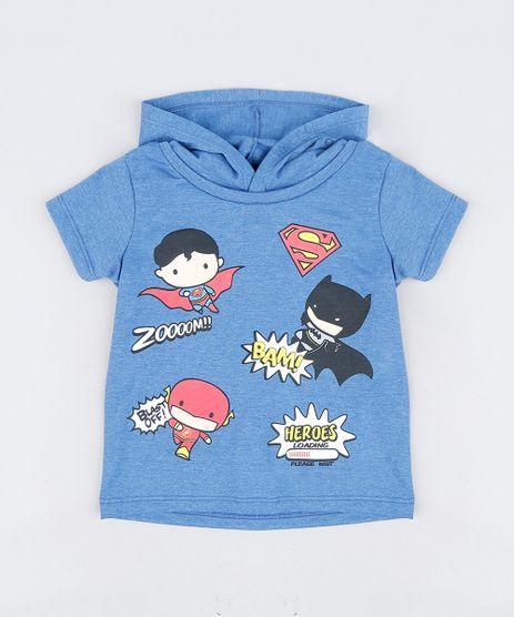 Camiseta-Infantil-Liga-da-Justica-com-Capuz-Manga-Curta-Azul-9303022-Azul_1