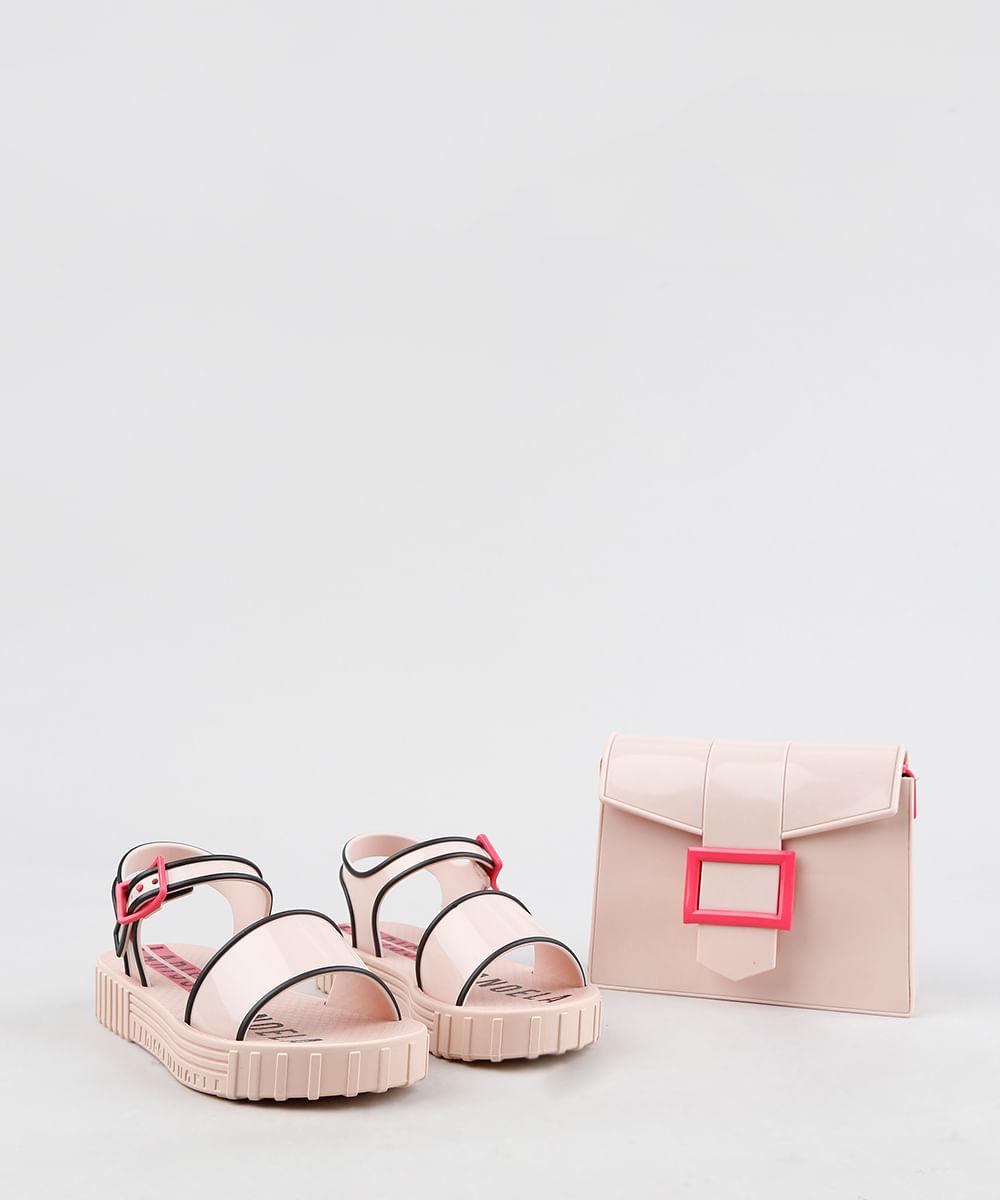 b1ae6da6d5 Sandália Infantil Grendene Larissa Manoela Vem Com Bolsa Fashion ...