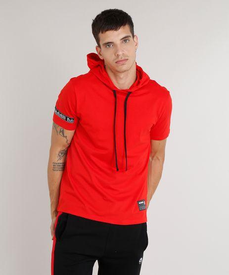 Camiseta-Masculina-Kings-Sneakers-com-Capuz-Manga-Curta-Vermelha-9285487-Vermelho_1