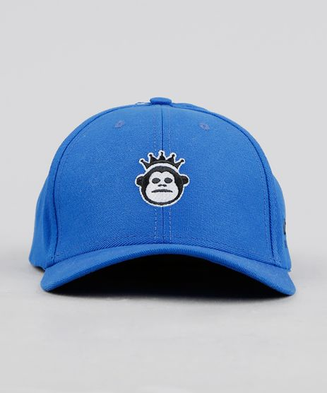 Bone-Masculino-Kings-Sneakers-Monkey-Aba-Curva-com-Bordado-Azul-Royal-9327697-Azul_Royal_1