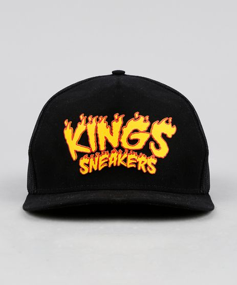 cef814dab7123 Bone-Masculino-Kings-Sneakers-Aba-Reta-com-Tela-