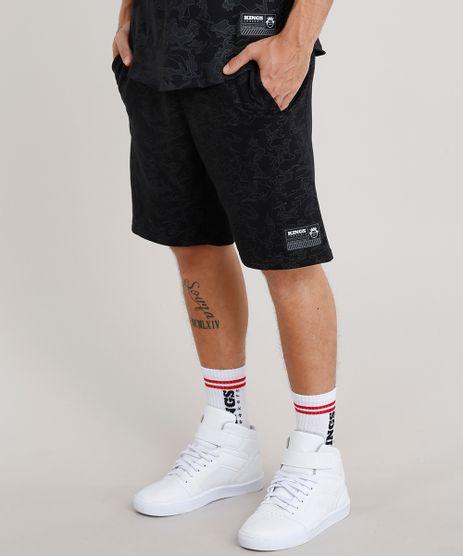 Bermuda-Masculina-Kings-Sneakers-em-Moletom-Estampada-Camuflada-Preta-9294763-Preto_1