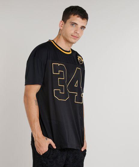 Camiseta-Masculina-Ampla-Kings-Sneakers--34--Manga-Curta-Gola-Careca-Preta-9286095-Preto_1
