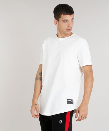 Camiseta-Masculina-Alongada-Kings-Sneakers-Manga-Curta-Gola-Careca-Off-White-9285483-Off_White_1