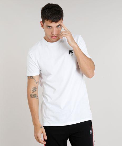 Camiseta-Masculina-Kings-Sneakers-com-Chaveiro-Manga-Curta-Gola-Careca-Branca-9285484-Branco_1