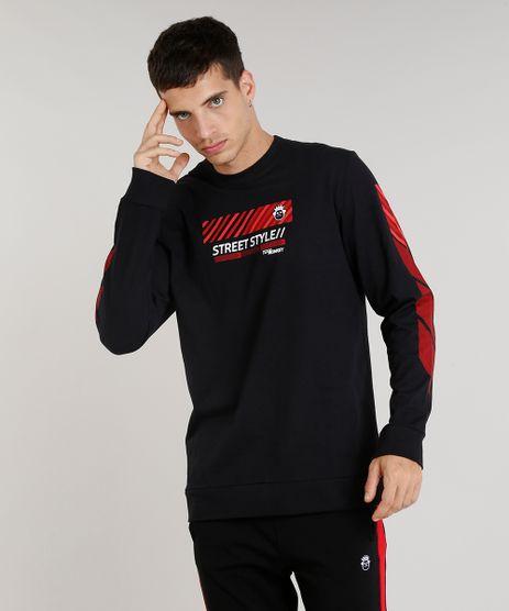 Camiseta-Masculina-Kings-Sneakers--Street-Style--Manga-Longa-Gola-Careca-Preta-9285490-Preto_1
