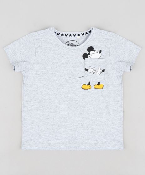 Camiseta-Infantil-Mickey-com-Bolso-Manga-Curta-Gola-Careca-Cinza-Mescla-Claro-9299429-Cinza_Mescla_Claro_1