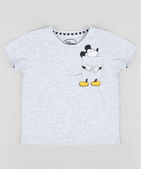 Camiseta-Infantil-Mickey-com-Bolso-Manga-Curta-Gola- 0f3f773141d38