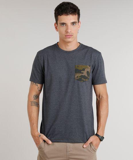 Camiseta-Masculina-com-Bolso-Estampado-Camuflado-Manga-Curta-Gola-Careca-Cinza-Mescla-Escuro-9293675-Cinza_Mescla_Escuro_1