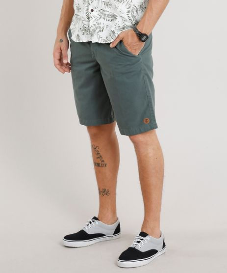 Bermuda-Masculina-com-Cordao-e-Bolsos-Verde-Escuro-9292945-Verde_Escuro_1