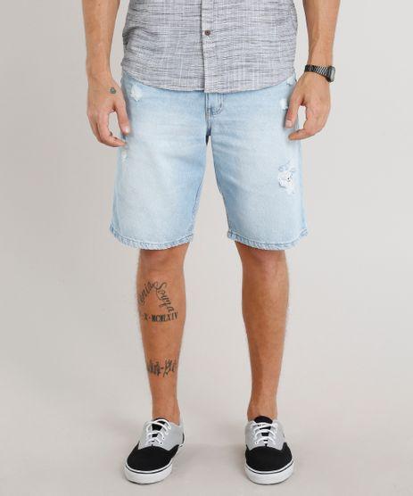 Bermuda-Jeans-Masculina-Reta-Destroyed-Azul-Claro-9309294-Azul_Claro_1