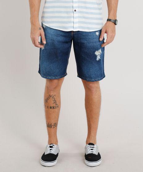 Bermuda-Jeans-Masculina-Reta-Destroyed-Azul-Escuro-9309295-Azul_Escuro_1