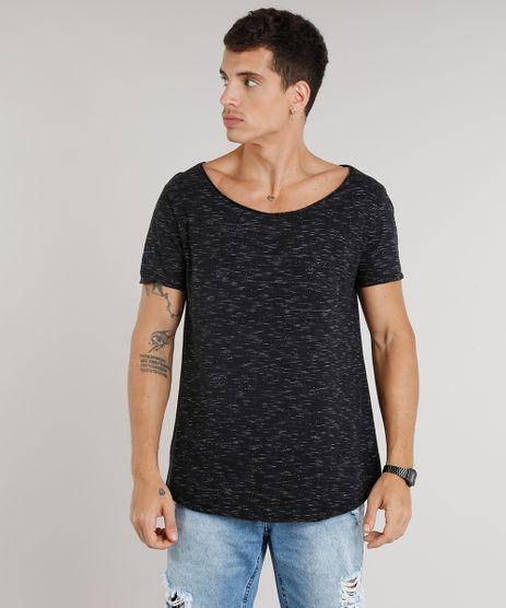 Camiseta-Masculina-Longa-Manga-Curta-Gola-Canoa-Preta-9300786-Preto_1