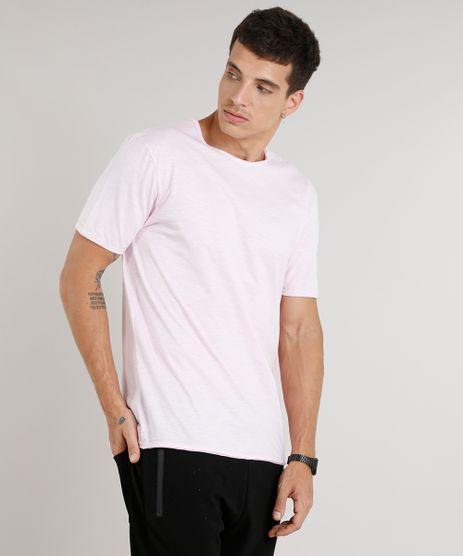 Camiseta-Masculina-Longa-Manga-Curta-Gola-Careca-Rosa-Claro-9325863-Rosa_Claro_1