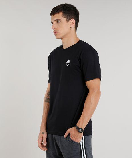 Camiseta-Masculina-com-Bordado-de-ET-Manga-Curta-Gola-Careca-Preta-9286213-Preto_1